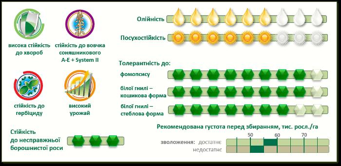 Характеристики Семена подсолнечника Пионер P64LE25 (П64ЛЕ25)